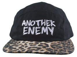 Another Enemy Unisex Wildtiere Leopardenmuster 5 Panel Snapback Baseball Hat Nwt