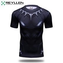 Panthère Noire Super Héros Avengers Compression Remise T-Shirt Cyclisme UK - $10.92