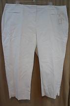 Charter Club Pantalon Magasin Femme Courts Sz 22w Blanc Coupe Classique - $39.52