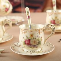 LanBeiJia European Tea Set Ceramic Rose Suit Coffee Cup - $35.95