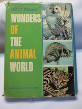 Walt Disney Wonders of the Animal World De Luxe Golden Book 1964 HBDJ - $15.00