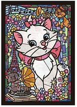 266 Piece Jigsaw Puzzle Disney Marie Stained Glass Gyutto series [Stained Art] - $32.34