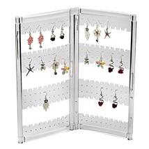 Myjell 120 Earring Holder Jewelry Hanger Organizer Foldable Acrylic Earr... - $11.89