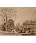 Eugene Veder Paris Street Scene 1929 Etching 1876-1936 Pencil Signed 02536 - $235.00