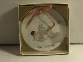 #212105 PRECIOUS MOMENTS 1988 CHRISTMAS ORNAMENT, ORIGINAL BOX, ANGELS A... - $12.35