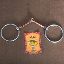 "5"" Hilason Western Loose Ring Horse Bit W/ Twisted Copper Wire Mouth U-3027 - $22.95"
