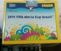2014 PANINI FIFA WORLD CUP BRAZIL BRASIL STICKER BOX RARE 50 PACK 7 PER ... - $54.44
