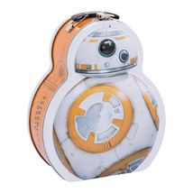 Star Wars The Force Awakens BB8 Droid Shaped Tin Tote NEW UNUSED - $18.37