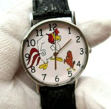 "FOGHORN LEGHORN,& Henry Hawk ""I Eat Chickens"" ,BIG MEN'S CHARACTER WATCH... - $49.99"