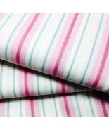 Striped Fabric Pink Green Cream by Joan Kessler for Concord Fabrics  - £3.21 GBP