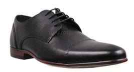 Mens Kenneth Cole Reaction Brave Lace Up Black Cap Toe Oxford [RMF8103LE... - $77.99