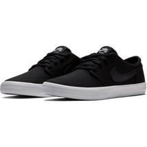 Nike SB Portmore II Solar Canvas Sneakers Black Trainers Skate 11 UK 46 ... - $79.52