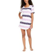 Jenni Collection Sleepshirt Short Sleeve Nightgown NWT (Stripe Tie Dye, ... - $21.00