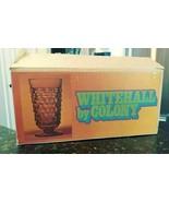 SET OF 8 VTG INDIANA COLONY GLASS WHITEHALL AMBER TEA TUMBLERS IN BOX - $77.95