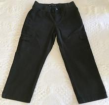LEE Women's Black Cargo Relaxed Elastic Waist Capri Size 10 Medium (29 x 22.5) - $12.95