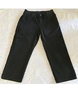 LEE Women's Black Cargo Relaxed Elastic Waist Capri Size 10 Medium (29 x... - $12.95
