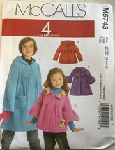 McCall's M5743 Girl's Jacket or Coat Great Look... - $7.49