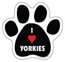 "I Heart YORKIES Cute DOG PAW PRINT Fridge Car Magnet 5""x5"" Large NEW FRE... - $5.89"