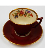 DEMITASSE SIZE CUP SAUCER OLD LVORY SYRACUSE CHINA OPCD MADE IN USA - $27.72