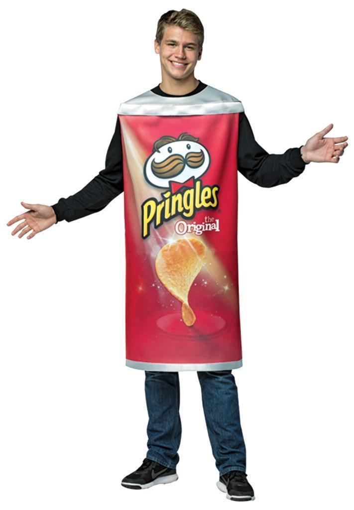 Pringles Can Potato Chips Adult Men Women Costume Food Halloween Unique GC3905