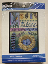 Bless This Nest Bucilla Counted Cross Stitch Kit #WM45524 Robin Bird NIP - $10.99