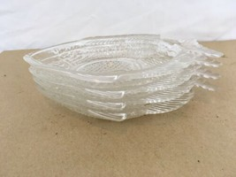Tropical Fish Crackers Candy Hors d'euvre Appetizer Set of 4 Glass Plates - $28.71