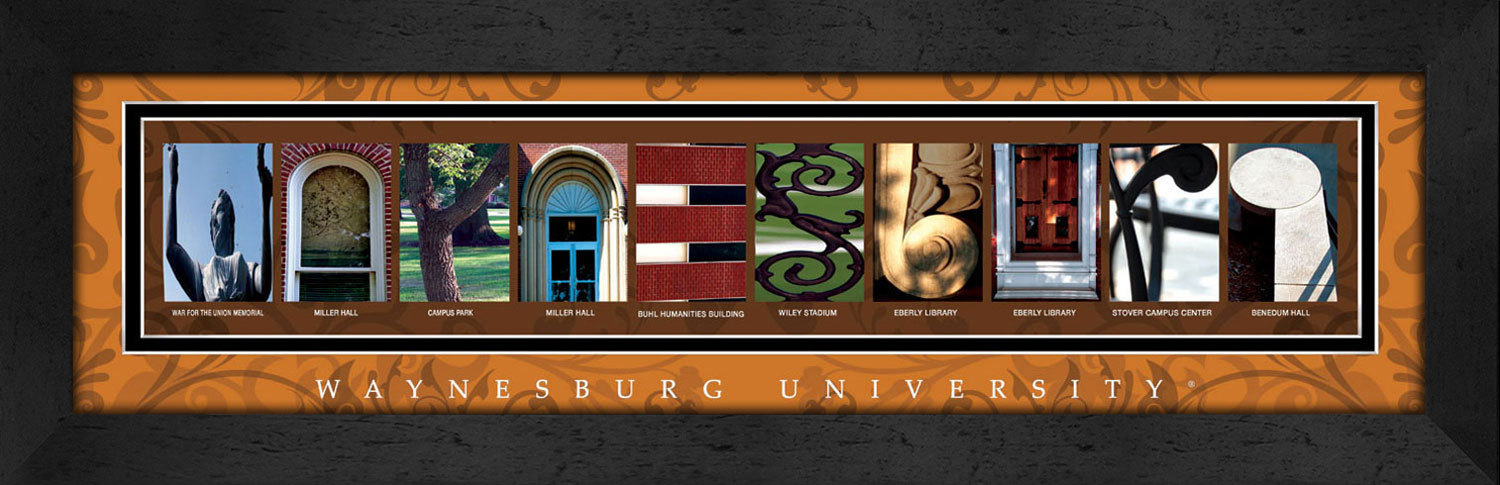Primary image for Waynesburg University Officially Licensed Framed Campus Letter Art