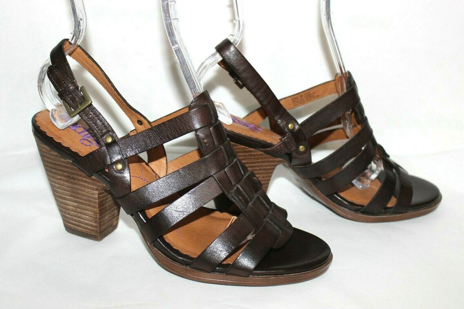 ✿ INDIGO by Clarks Woven Strappy Slingback Heeled Sandals 8 M EXCELLENT! L@@K!26 image 5