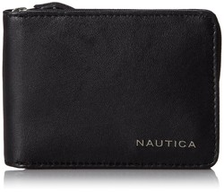 Nautica Men's Premium Leather Credit Card ID Slim Zip Around Wallet 31NU13X005