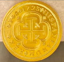 SPAIN 8 ESCUDOS 1723 DOUBLOON GOLD PENDANT JEWELRY FLEET TREASURE COIN P... - $249.00