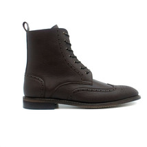 Ankle Boot Lace-Up on Vegan Leather Lined Breathable Brogue Non-Slip Lig... - $175.00