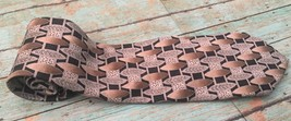 Pierre Cardin Tie Black Brown Silver Geometric Shapes Multi Patterns Nec... - $5.93