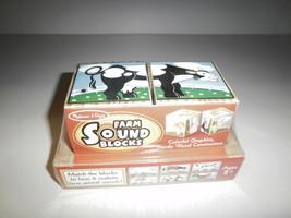 Melissa & Doug 1196 Farm Sound Blocks Ages 2+ New - $12.85