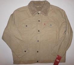 Levi's Mens Tan Sherpa Corduroy Trucker Jacket XXL - $83.30