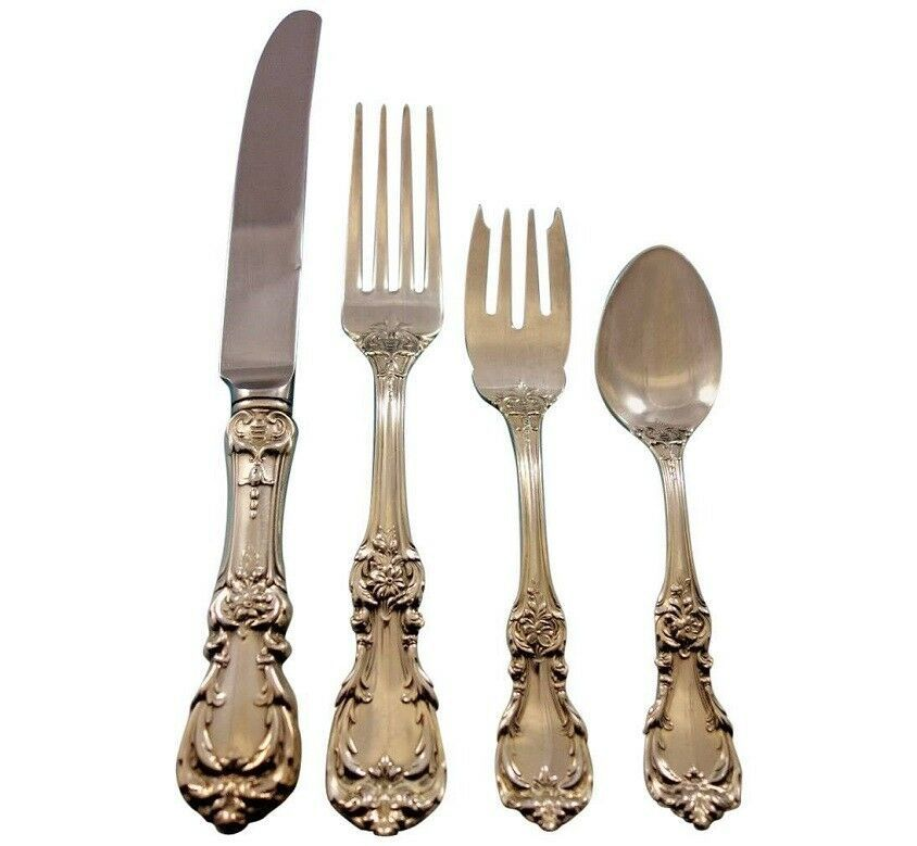 Primary image for Burgundy by Reed & Barton Sterling Silver Flatware Set Service 32 pcs Dinner