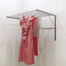 Stainless Steel Clothes Drying Rack Wall Mounted Folding Collapsible Adj... - $83.84