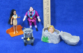 Burger King Toys Disney Pocahantas John Smith Racoon Wind Up & Bad Man Figurines - $8.90