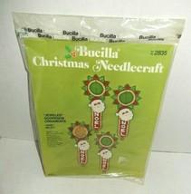 Bucilla Christmas Needlecraft Jeweled Doorknob Ornaments Noel Santa Bell... - $13.99