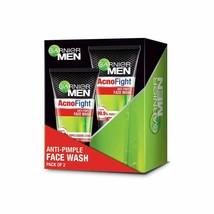Garnier Men Acno Fight Anti-Pimple Facewash, Pack of 2 x 100 gm - $19.62