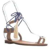 Circus by Sam Edelman Binx2 Lace Up Flat Sandals, Golden Caramel - $27.99