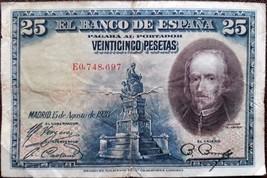 Kingdom Spain banknote - 25 pesetas - year 1928 - Pedro Calderón de la B... - $10.46