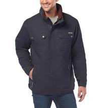 Rugged Elements Men's Trek Jacket with Hidden Hood Water Resistant Dark Navy M