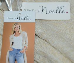Simply Noelle Brand JCKT222SM Womens Pearl Zipper Knit Sweater Jacket Size SM image 7