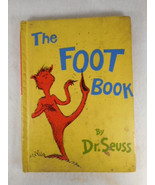 The Foot Book Dr Seuss 1968 First Edition Rare Yellow Book - $69.25