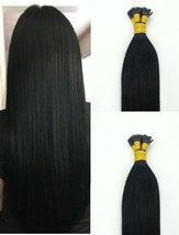 """18"""",22"""" 100grs,125s,I Tip (Stick Tip) Fusion Remy Human Hair Extensions #1  - $98.99+"""