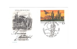 Picture POSTCARD- America The BEAUTIFUL- The DESERT- First Day Issue BK9 - $1.94