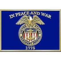 United States Merchant Marine Buckle In Peace And War - $19.79