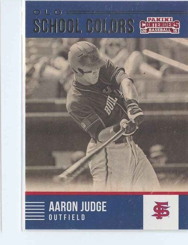 Primary image for AARON JUDGE RC 2015 Panini Contenders Old School Colors #23 New York Yankees