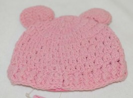 Ruffle Butts Pink Ear Hat With Flower Cotton 0 To 6 Months image 2
