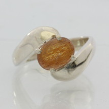 Tanzanian Confetti Sunstone Handmade Sterling 925 Silver Ladies Ring size 6.75 - £54.67 GBP
